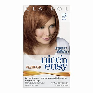 clairol nice 39 n easy 110 light auburn. Black Bedroom Furniture Sets. Home Design Ideas